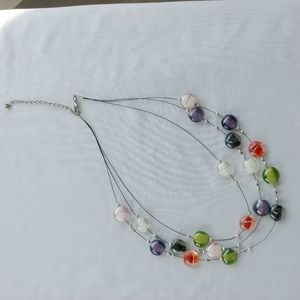 Colourful Beaded Necklace, Glass Beads